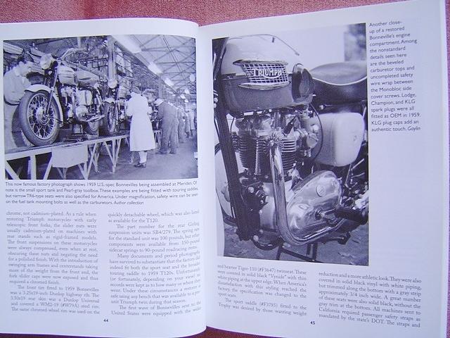 ★ 洋書 トライアンフ ボンネビル&TR6 モーターサイクル レストレーション ガイド TRIUMPH Bonneville&TR6 Motorcycle Restoration Guide_画像6