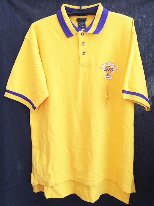 NBA XXL 2XL ロサンゼルス レイカース LAKERS ポロシャツ イエロー 黄色 YELLOW 1117_画像1