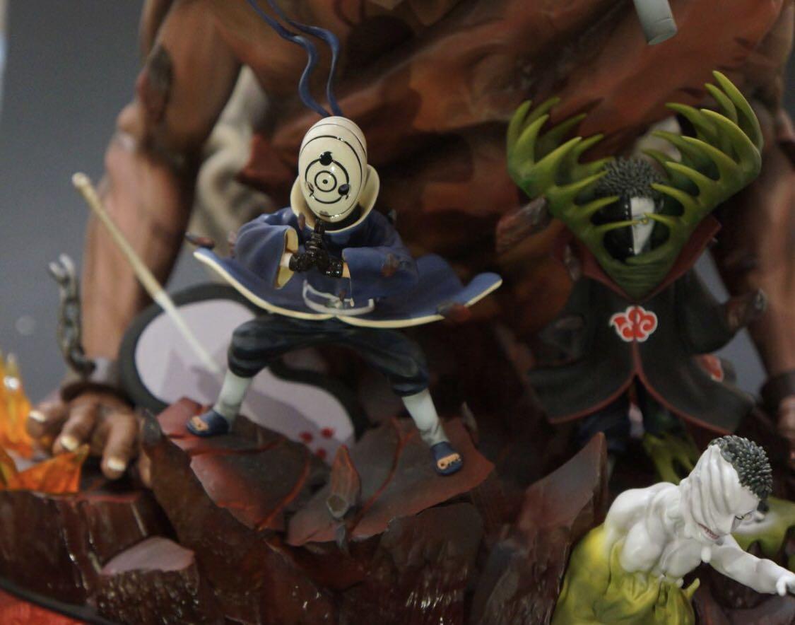【国内発送 保証付き】NARUTO ナルト フィギュア 外道魔像 暁 帯土 ゼツ 限定 検索:リペイント改造 一品物_画像2
