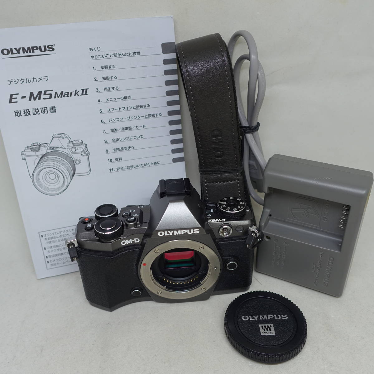 ★美品★Olympus オリンパス OM-D E-M5 Mark II Limited Edition Kit #205YO MO_画像1
