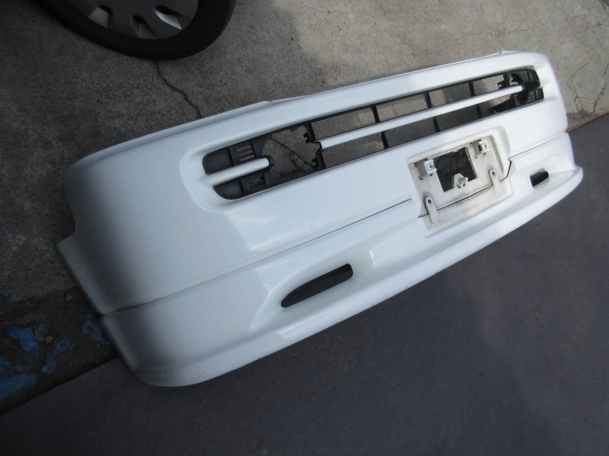 RF1 ホンダ ステップワゴン 純正 フロント バンパー スポイラー付 白 ホワイト(個人宅への配送不可)_画像1