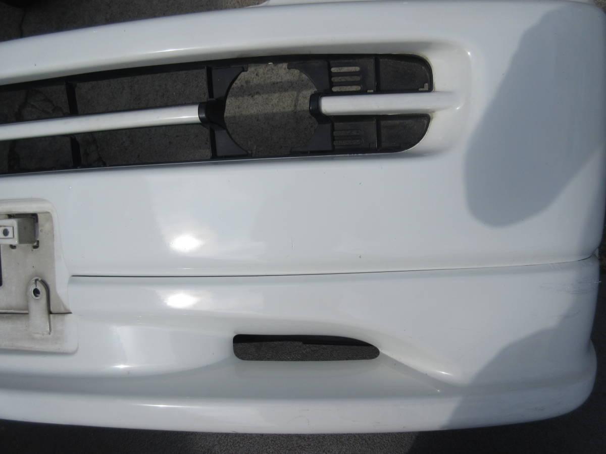 RF1 ホンダ ステップワゴン 純正 フロント バンパー スポイラー付 白 ホワイト(個人宅への配送不可)_画像5