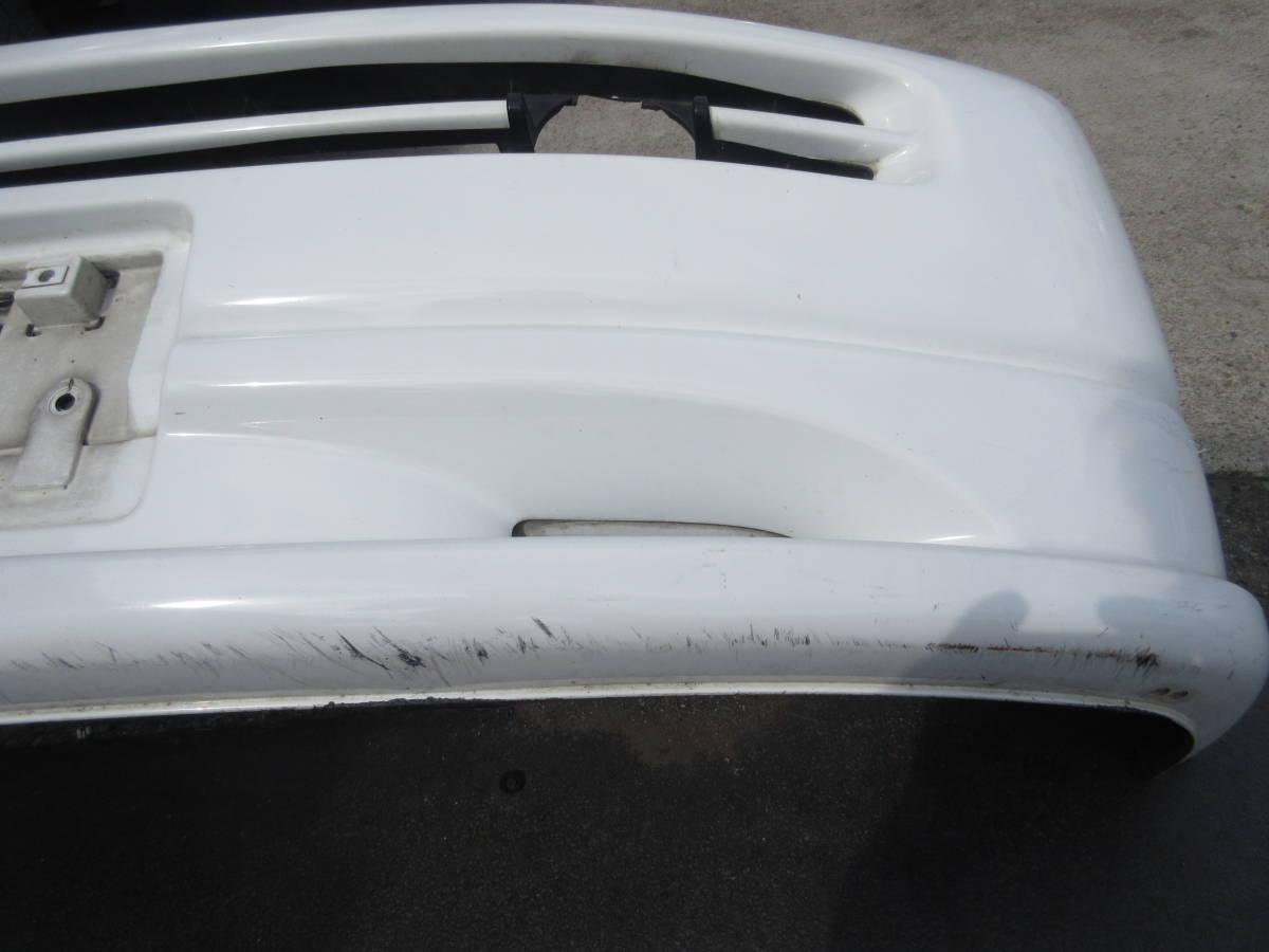 RF1 ホンダ ステップワゴン 純正 フロント バンパー スポイラー付 白 ホワイト(個人宅への配送不可)_画像6