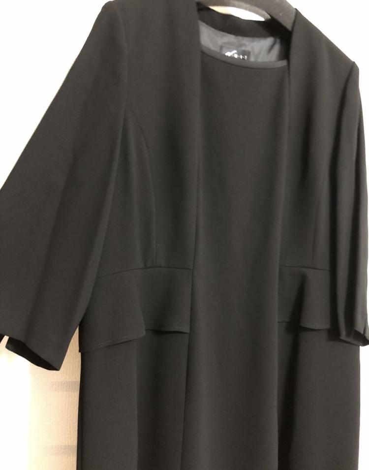 ★未使用品★ブラック フォーマル ウエア★ワンピーススーツ3点セット★19AR★2ジャケット★お買得★_画像2