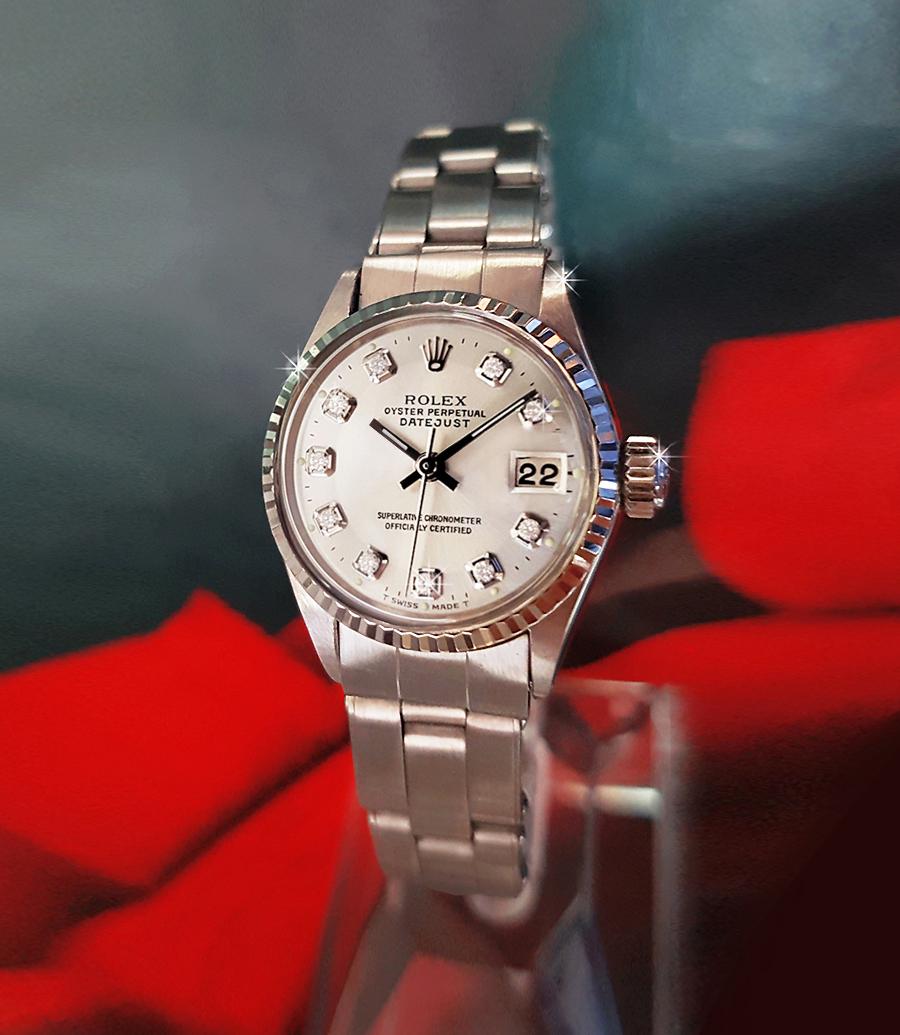 ROLEXロレックスデイトジャスト6519シルバー文字盤レディース腕時計
