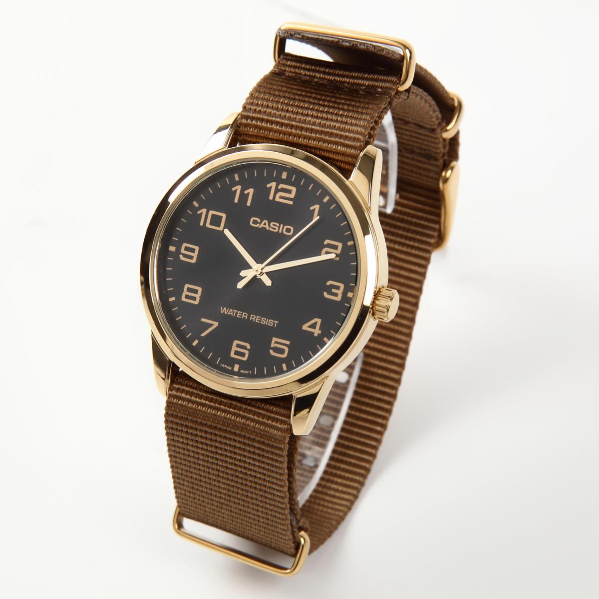 NATO タイプ 時計ベルト カーキブラウン 20mm ゴールドバックル 取付マニュアル付_画像2