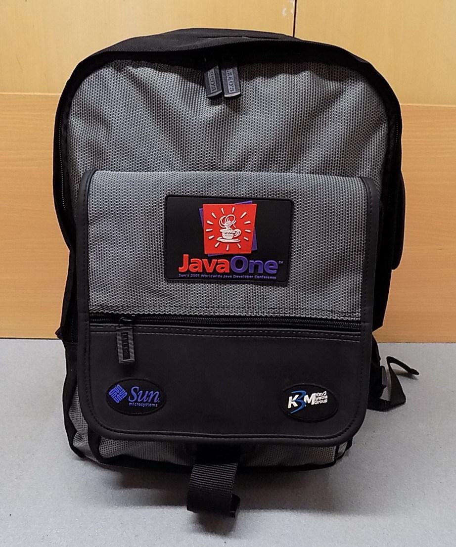 美品 Java One 黒とグレー リュックサック