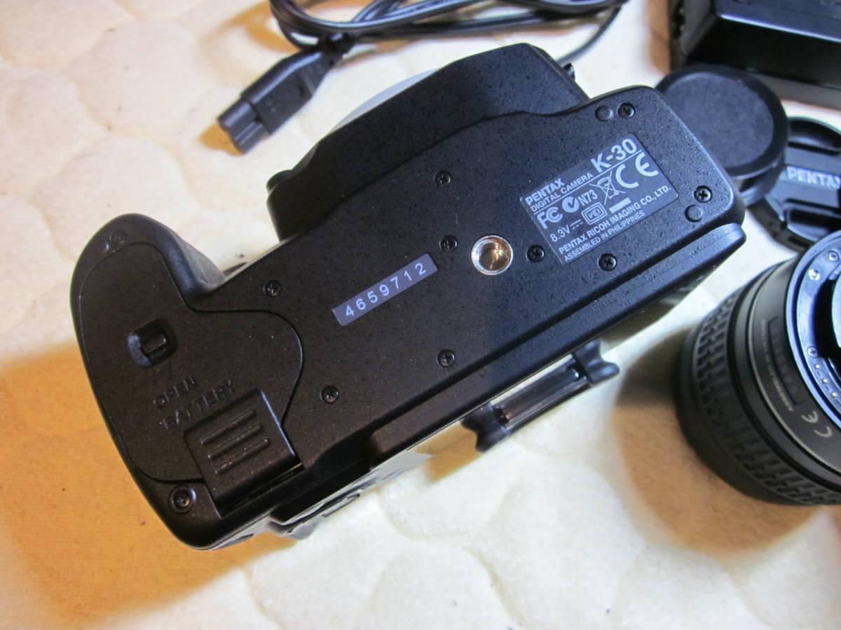 極上品、PENTAX ペンタックス K-30 純正18-55,55―300mmダブルレンズセット ,_画像4