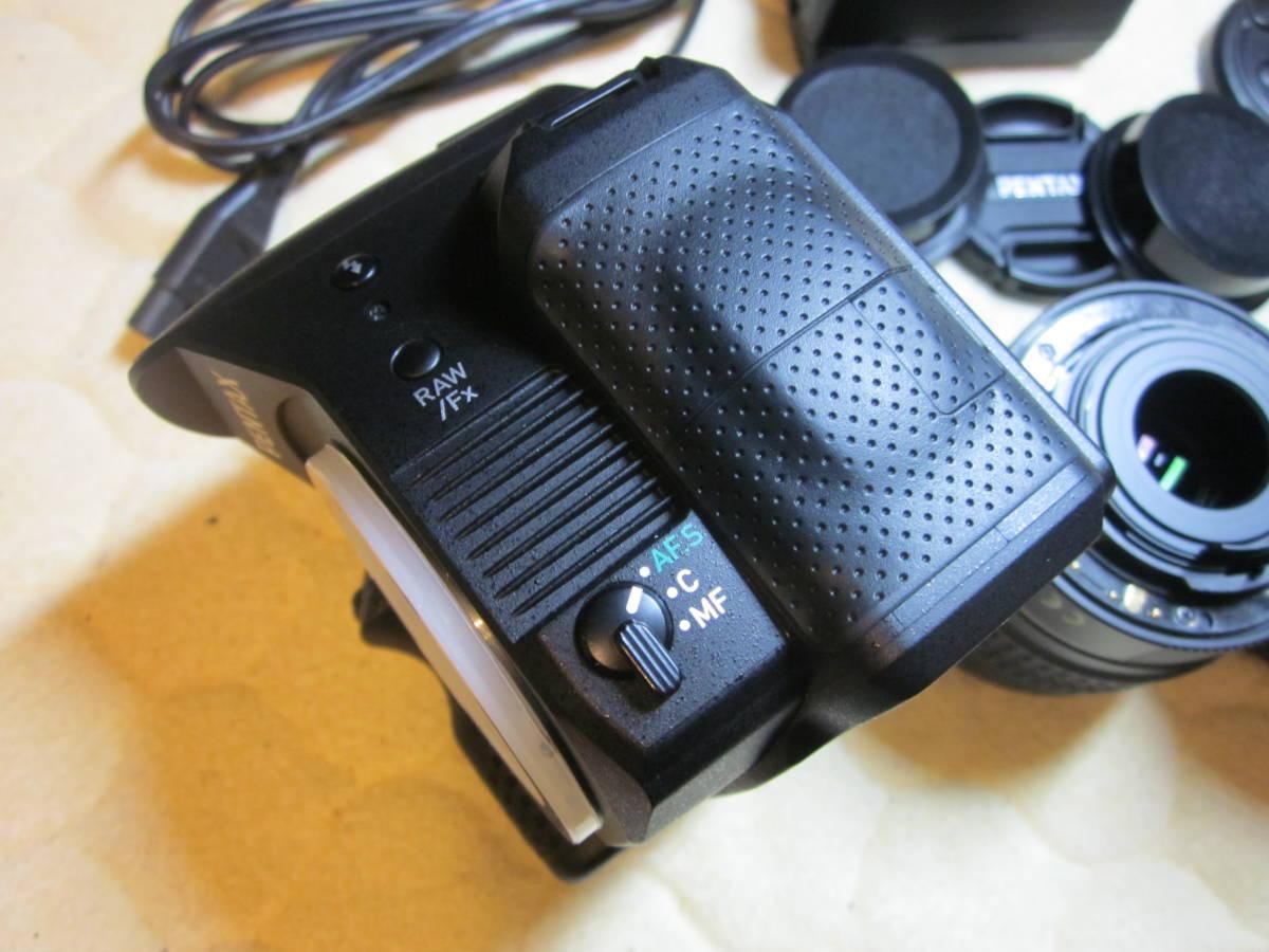 極上品、PENTAX ペンタックス K-30 純正18-55,55―300mmダブルレンズセット ,_画像5