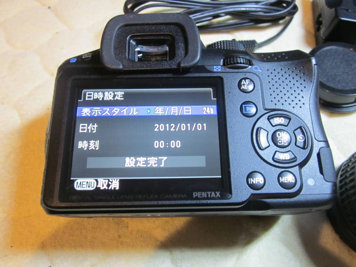 極上品、PENTAX ペンタックス K-30 純正18-55,55―300mmダブルレンズセット ,_画像6