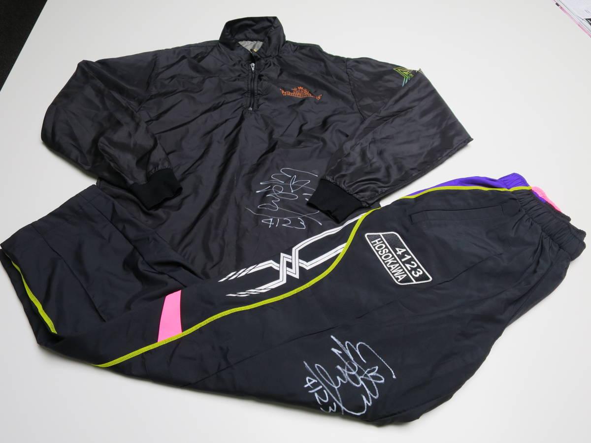 [チャリティー]細川裕子選手 オリジナルレーシングスーツ&レディースチャンピオンパンツ (直筆サイン入り)