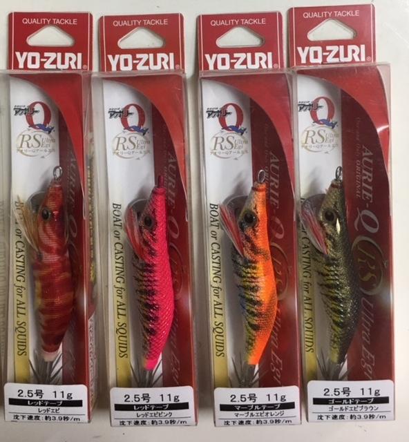 【YO-ZUR Iヨーヅリ】★ アオリーQ「RS」 2.5号(11g)4本セット♪