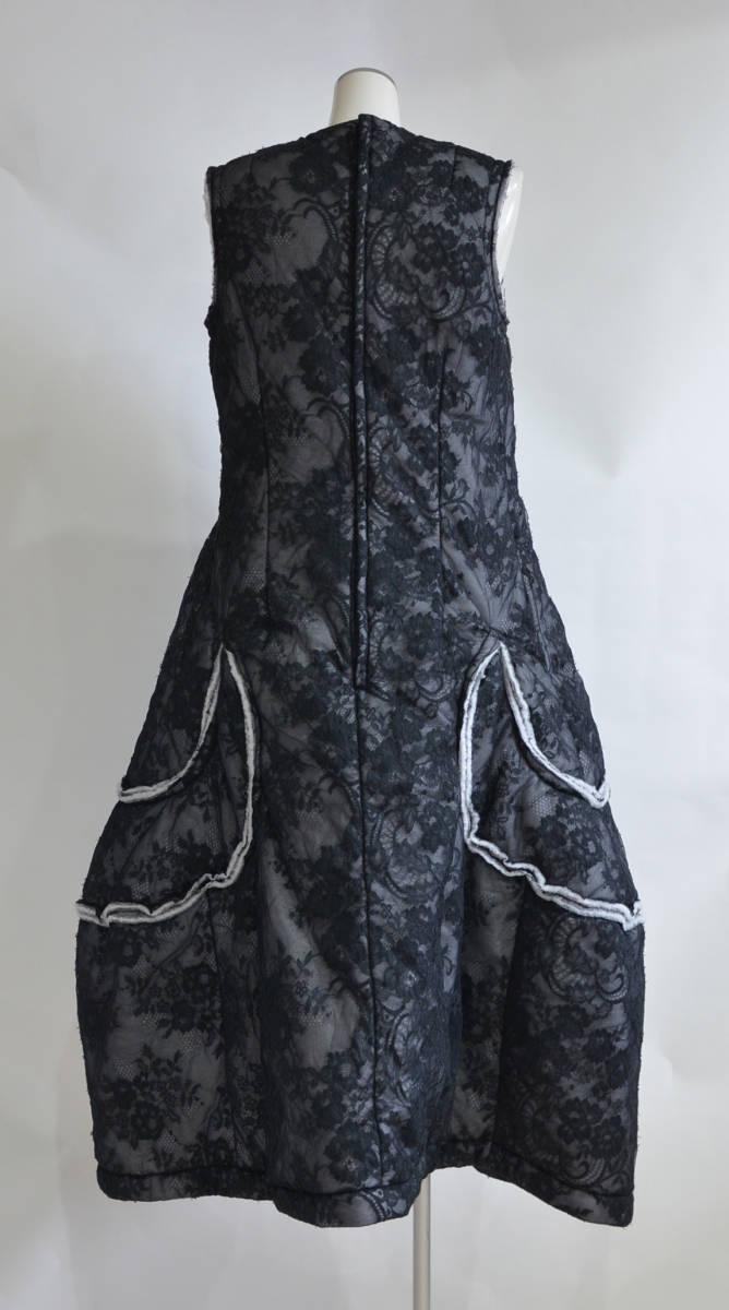 17AW COMME des GARCONS コムデギャルソン 花柄 フラワー レース ボリューム ドレス ワンピース Y-230550_画像2