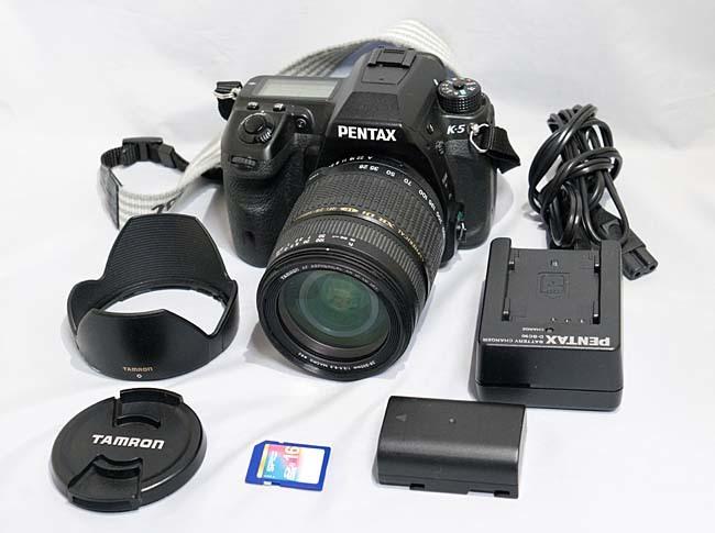 【最落なし】 PENTAX K-5 + TAMRON AF 28-300mm 1:3.5-6.3 + 16GBSD 到着即撮影可