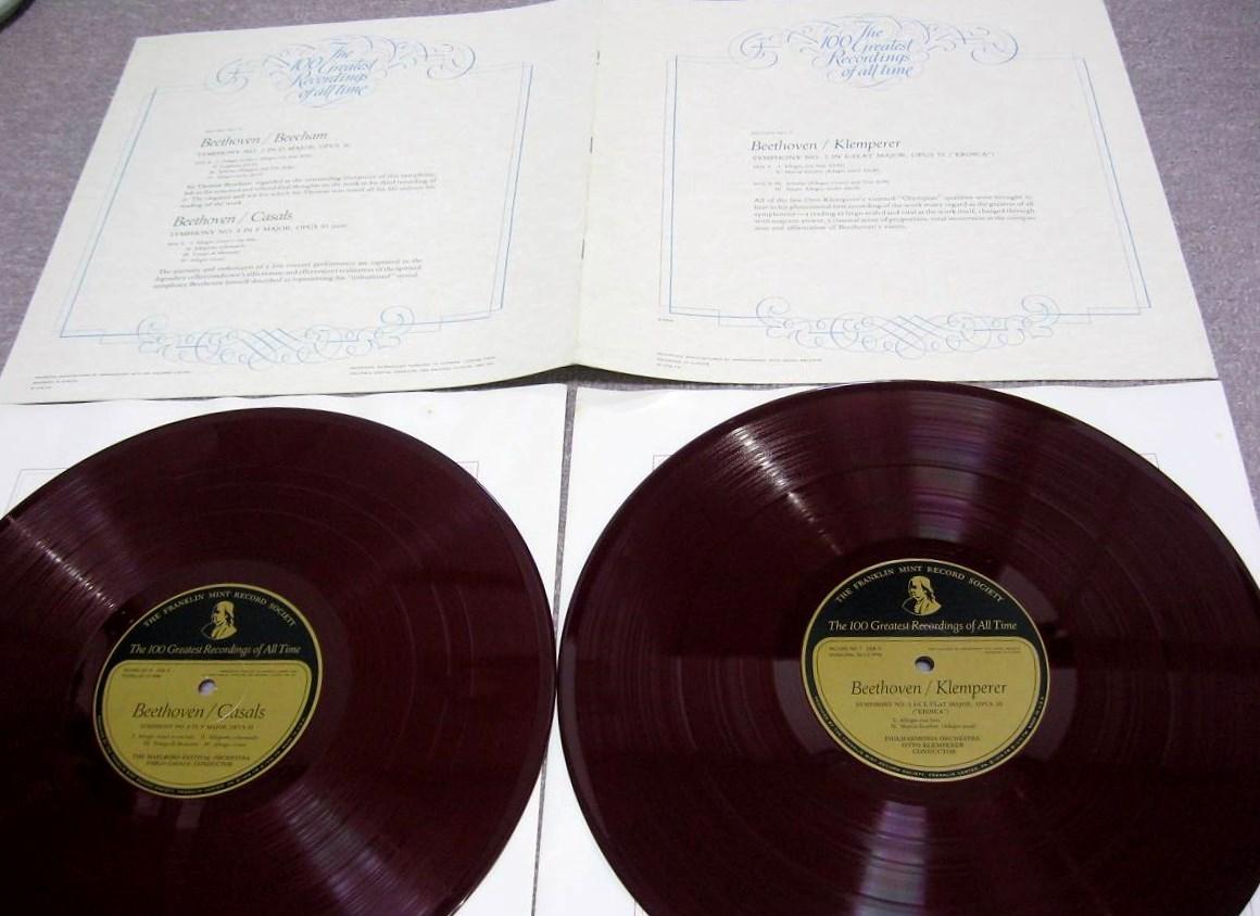 FM07&08 ベートーヴェン交響曲第3番「英雄」・第2番・第8番 クレンペラーほか 極美品 幻の赤盤 フランクリン・ミント 2枚組_画像1