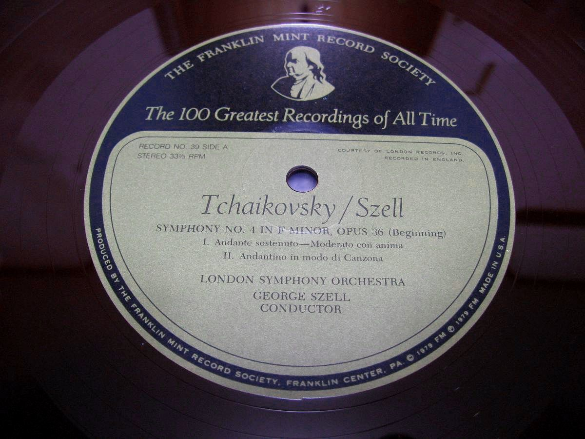 FM39&40 チャイコフスキー 交響曲第4番&第5番 セル/ストコフスキー 極美品 幻の赤盤 フランクリン・ミント 2枚組_画像2