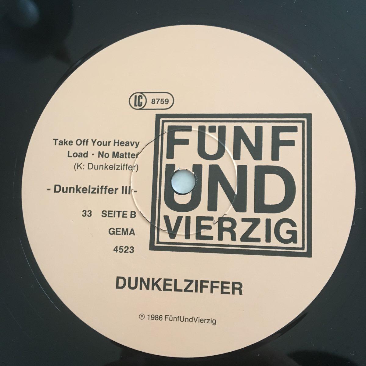 Dunkelziffer / III /LPレコード Krautroc 美品 ダモ鈴木 CAN_画像5