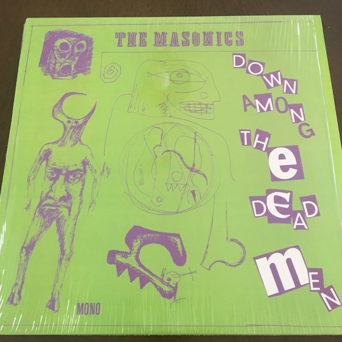 The Masonics Down Among The Dead Men LP Garage Rock, Punk, Rock & Roll レコード レア