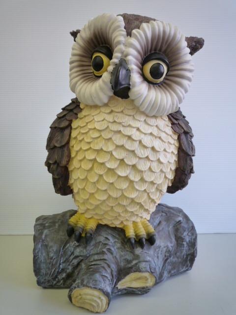 値下げ!【開運!】 ★ フクロウの置物 ★ 樹脂 高さ(約):39.5 cm