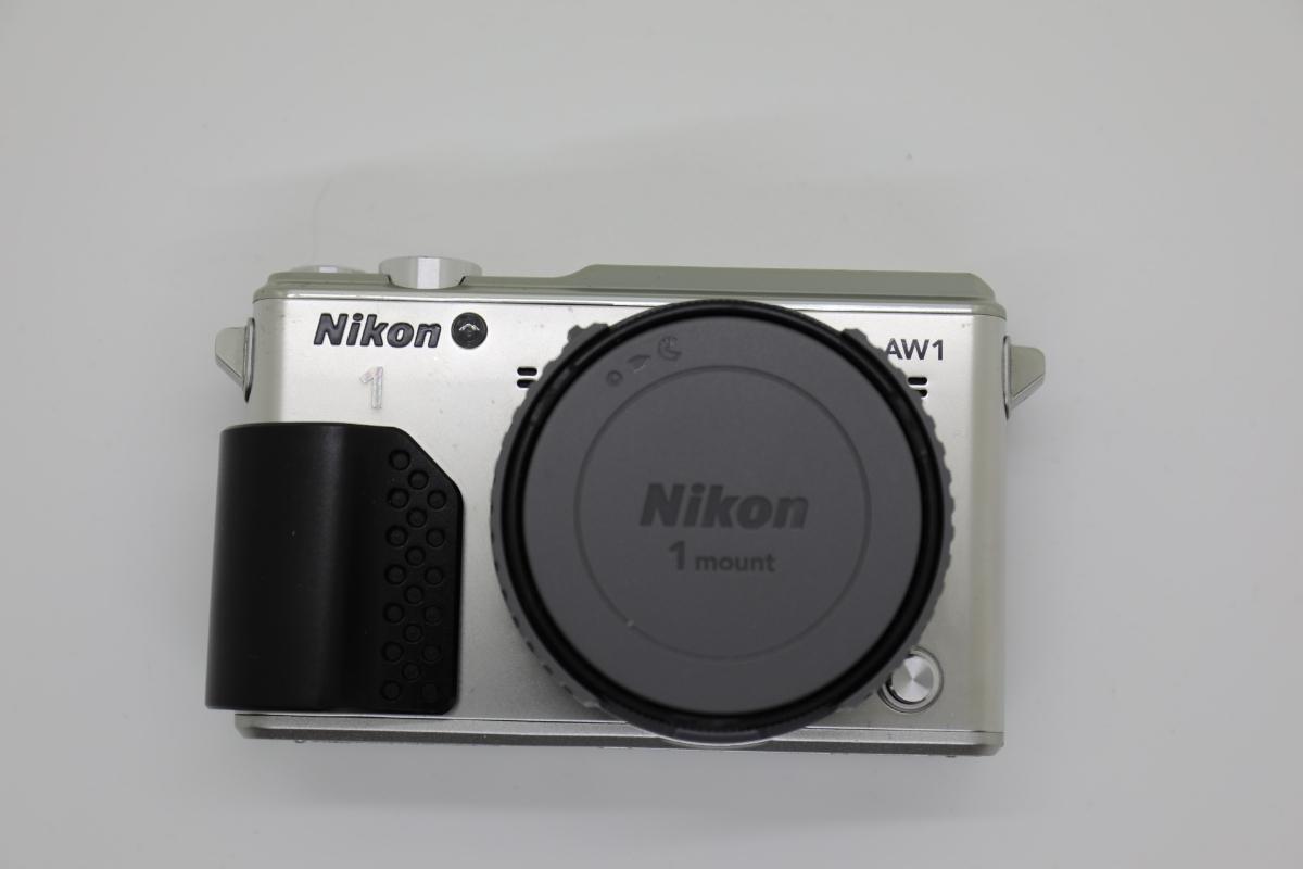Nikon ニコン 1 AW1 防水ズームレンズキット シルバー Wi-Fiアダプター・グリップ付_画像2