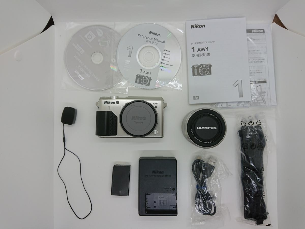 Nikon ニコン 1 AW1 防水ズームレンズキット シルバー Wi-Fiアダプター・グリップ付