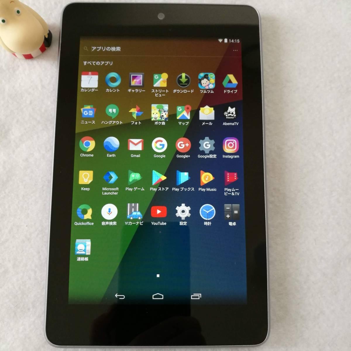【美品です】【7インチタブレットの名機】Google Nexus7 Wi-Fiモデル 16GB ツムツム ポケ森 カーナビ AbemaTV インスタ できます 16_画像2