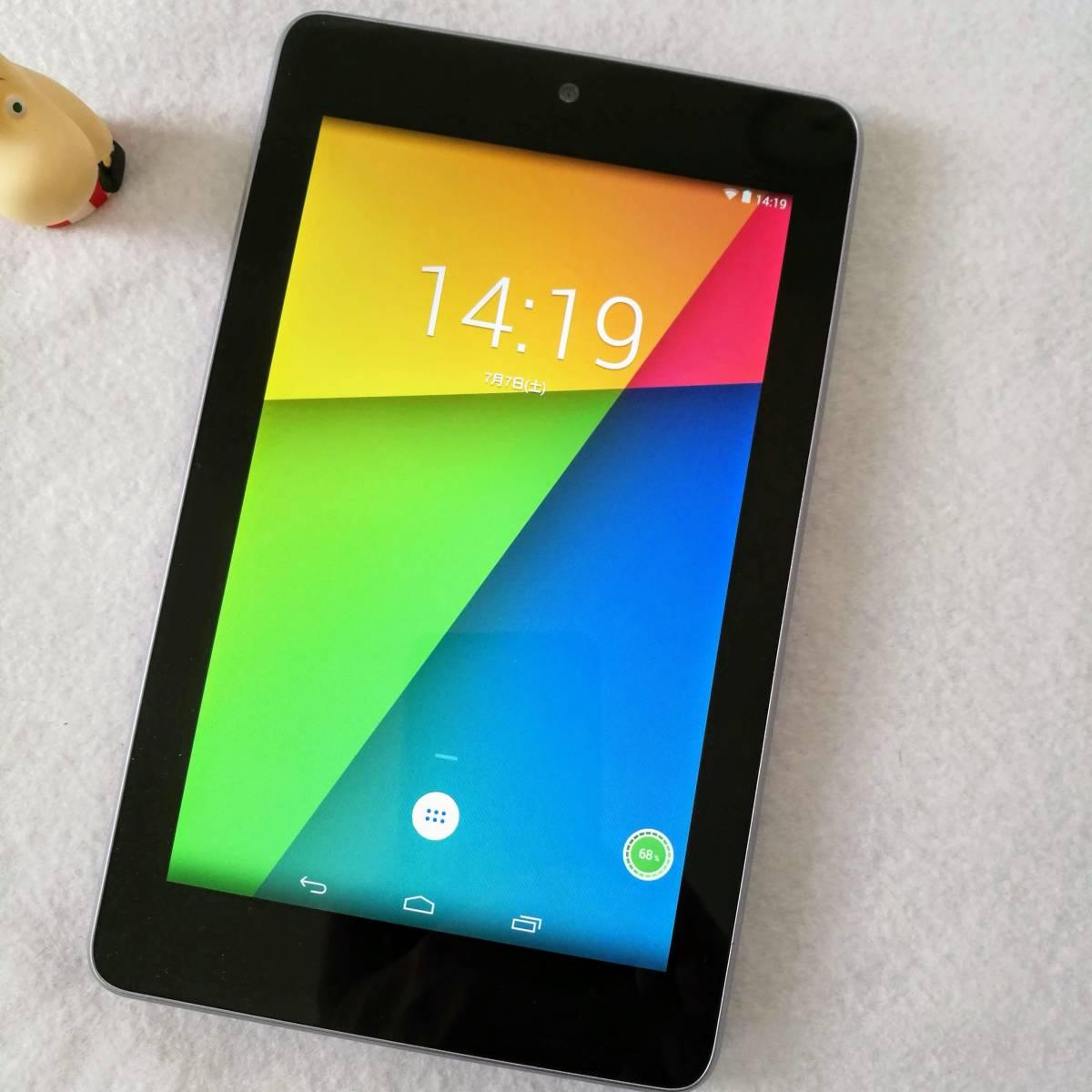 【美品です】【7インチタブレットの名機】Google Nexus7 Wi-Fiモデル 16GB ツムツム ポケ森 カーナビ AbemaTV インスタ できます 16