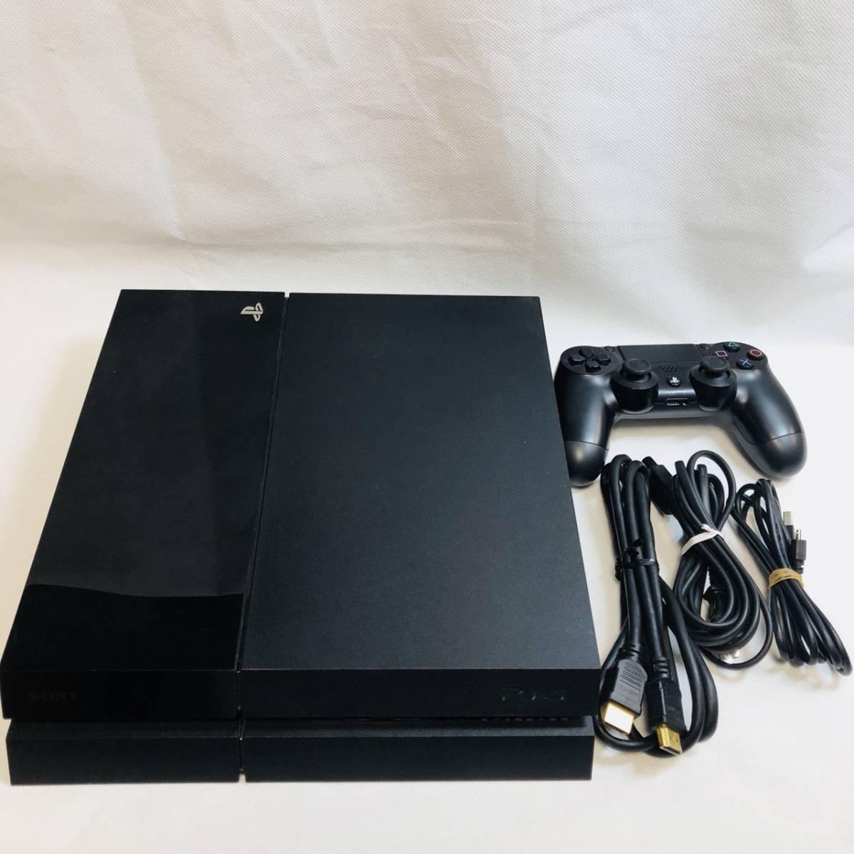 ★ 動作品 ★ PlayStation4 CUH-1000A 本体 すぐ遊べるセット! ジェットブラック 黒 プレイステーション4 プレステ4 封印シールあり ps4