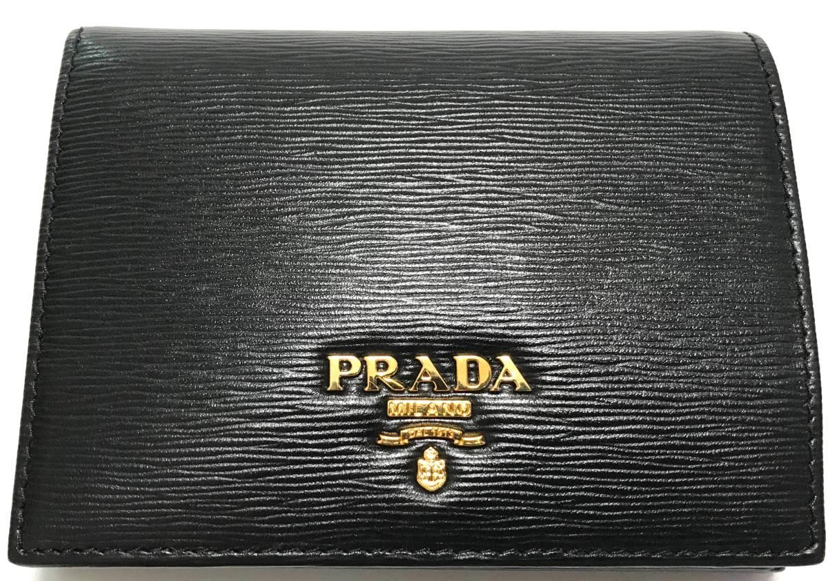 fd092750a10f 新品 PRADA/プラダ/VITELLO MOVE/二つ折り財布/NERO/