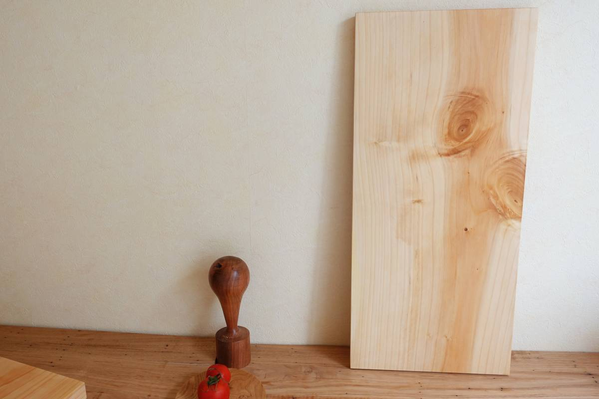 刃物に優しいまな板 いちょう 大 くるみオイル仕上げ 無垢まな板カッティングボードcafeサービングボード薬味トレー銀杏_画像8
