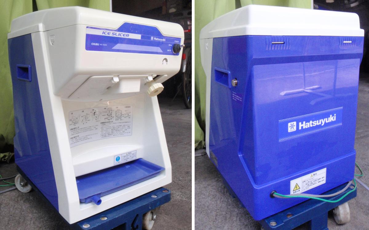 ◆分解清掃整備済!中部コーポレーション 初雪 氷削機 HC-S32A かき氷◆_画像3