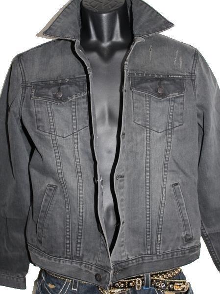 ゼインローブ ZANEROBE メンズデニムジャケット ブラック Sサイズ 新品_画像1