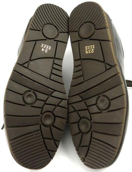 レディース左右サイズ違い靴 本革コンフォートシューズ ハッシュパピー Hush Puppies 日本製 レースアップ 左24cm右23.5cm幅広4E 茶 S6504_画像5