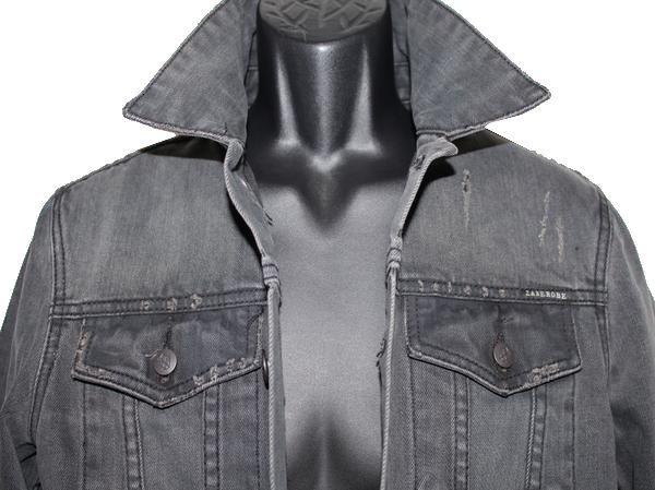 ゼインローブ ZANEROBE メンズデニムジャケット ブラック Sサイズ 新品_画像2