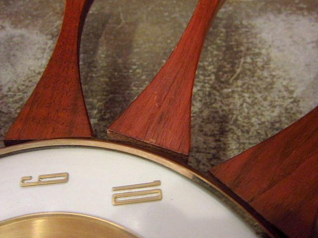 ビンテージ50's60's★Forestville スターバーストウォールクロック★40's70'sミッドセンチュリー壁掛け家具雑貨インテリアドイツ製_擦れがあります。