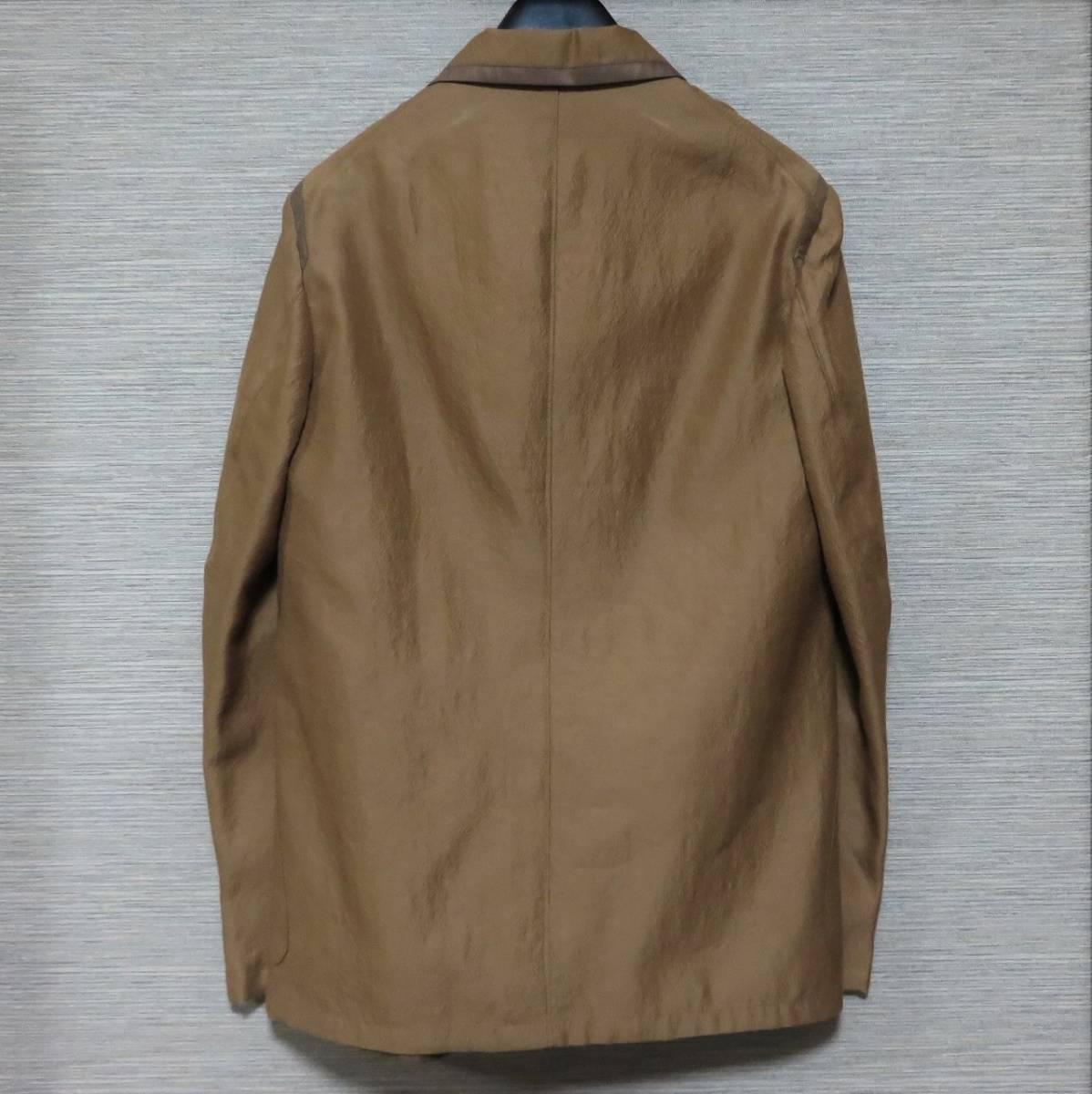 即決 新品 m's braque ウール シルク パイピング ジャケット 38 ブラウン 日本製 エムズブラック メンズ ms 1LDK_画像4