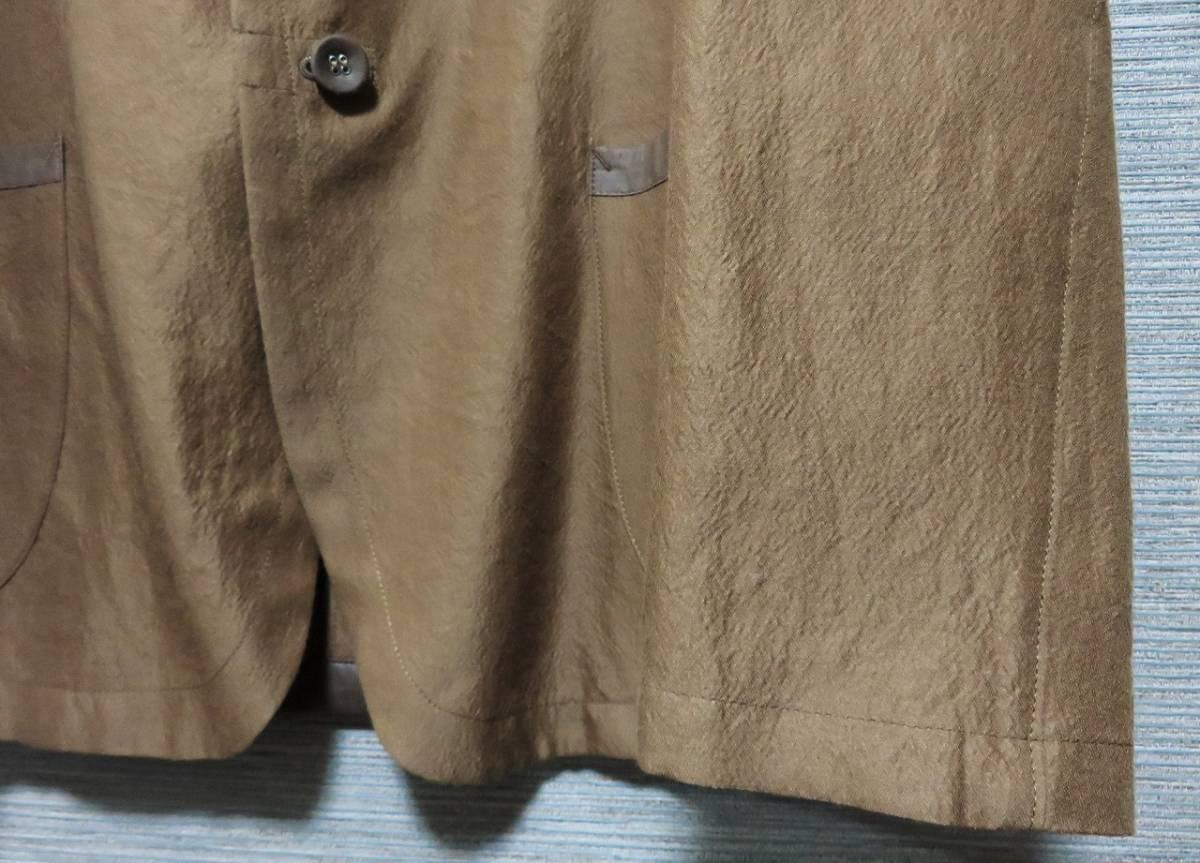 即決 新品 m's braque ウール シルク パイピング ジャケット 38 ブラウン 日本製 エムズブラック メンズ ms 1LDK_画像3