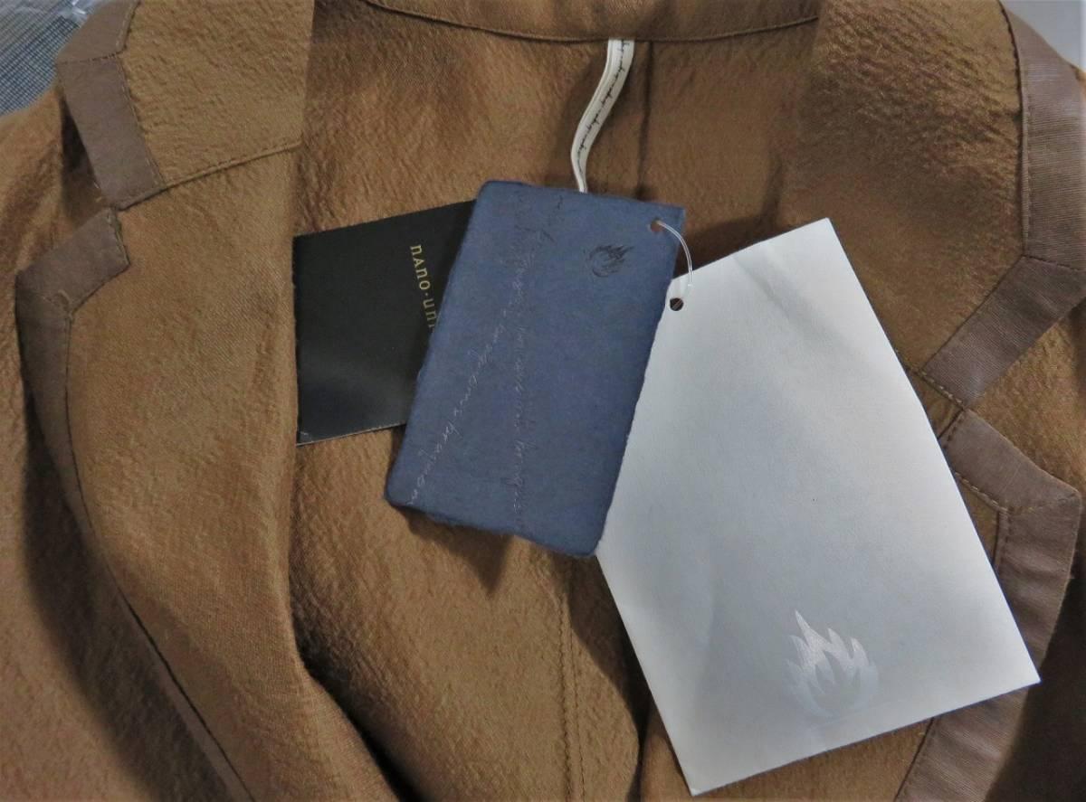 即決 新品 m's braque ウール シルク パイピング ジャケット 38 ブラウン 日本製 エムズブラック メンズ ms 1LDK_画像5