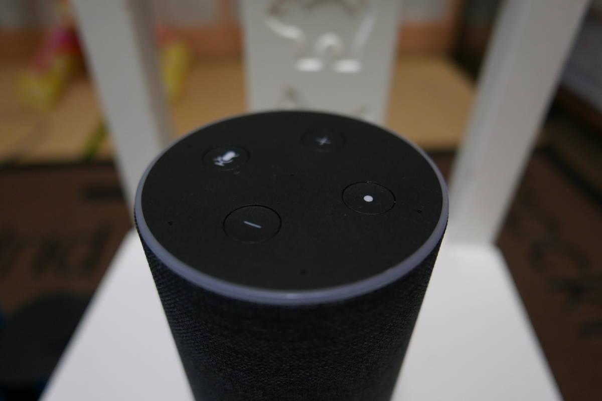 Amazon Echo アマゾン エチョー  美品 チャコール×ファブリック_画像3