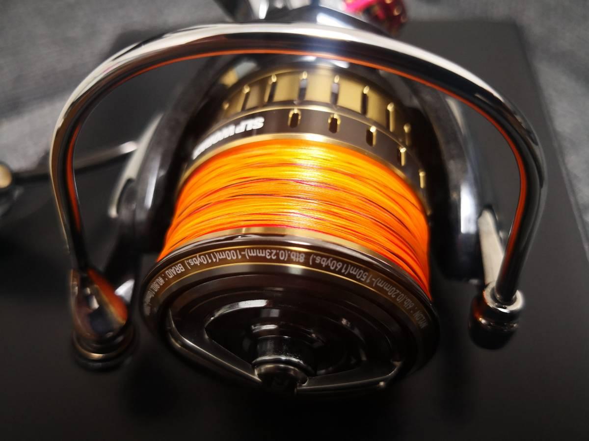 ダイワ18イグジストLT2500 SLP WORKS仕様&ダイワPEラインエメラルダス12ブレイド0.8号150m巻き 新品未使用品_画像8