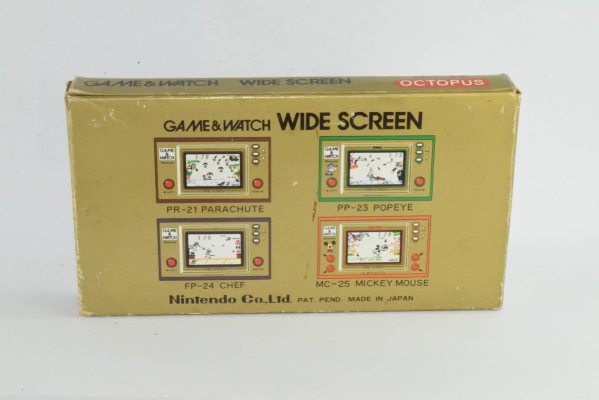 ゲーム&ウォッチ オクトパス 箱と説明書、ボタン電池付き_画像2