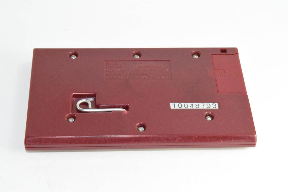 ゲーム&ウォッチ オクトパス 箱と説明書、ボタン電池付き_画像6