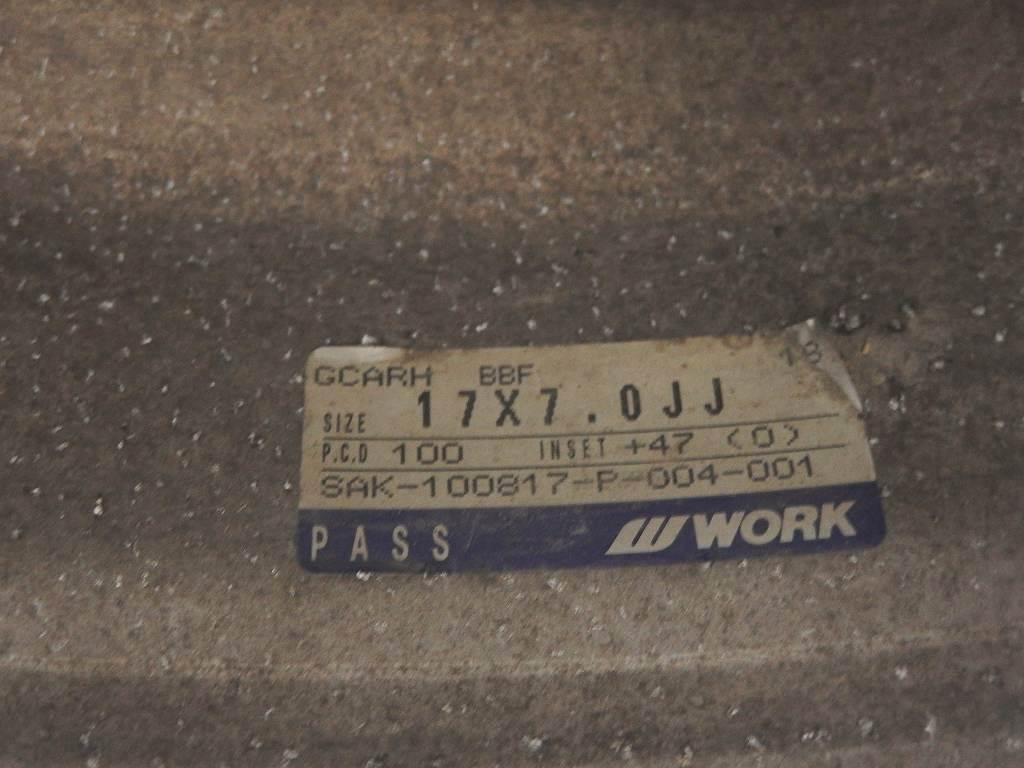 [2024]WORK GOOCARS HEMI 17x7J+47 PCD100x4H 4本 中古★ステップリム_画像3
