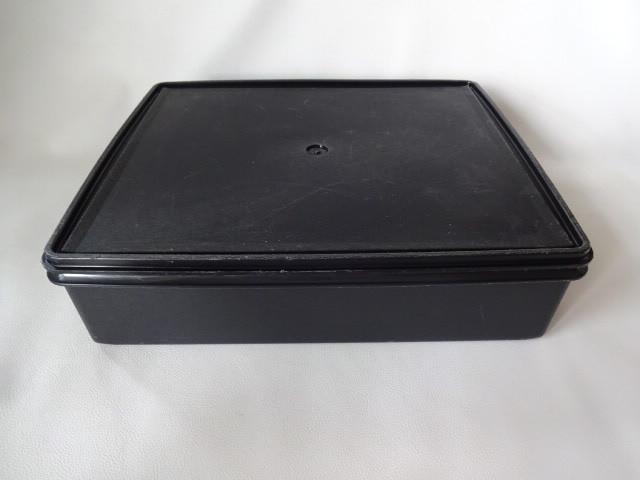 T / Tupperware タッパーウェア スーパーケース #1 ブラック 中古品_画像1