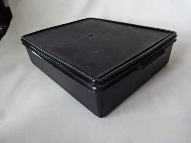 T / Tupperware タッパーウェア スーパーケース #1 ブラック 中古品_画像7
