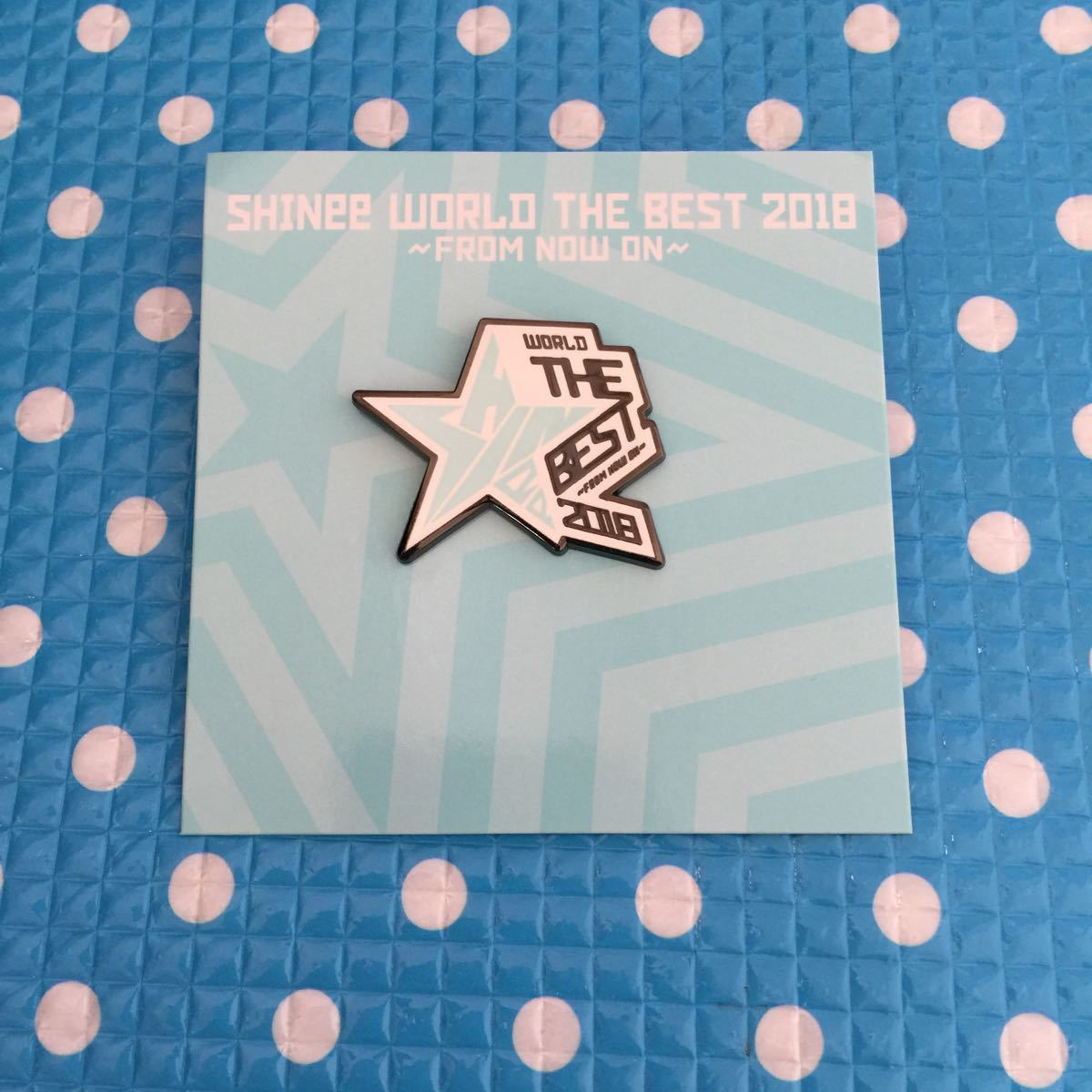 SHINee WORLD THE BEST 2018 FROM NOW ON 公式 グッズ★ランダムピンバッジ ピンバッジ ピンバッチ E★スター 星 ver._画像1