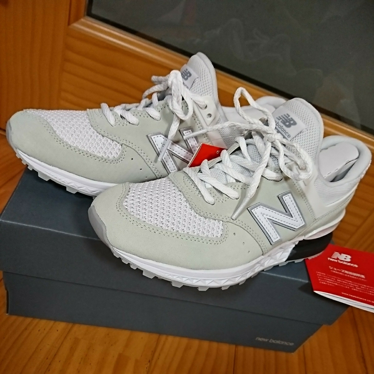 cheap for discount 3b28f 63a05 regular price 13392 jpy New balance MS 574 STW 24.5cm white ...