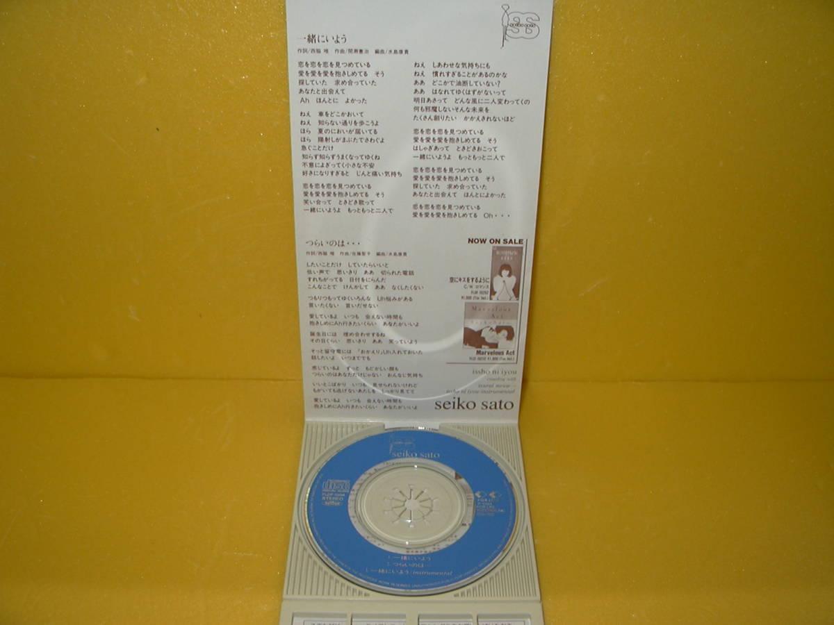 【8cmCD】 佐藤聖子 「 一緒にいよう 」_画像3