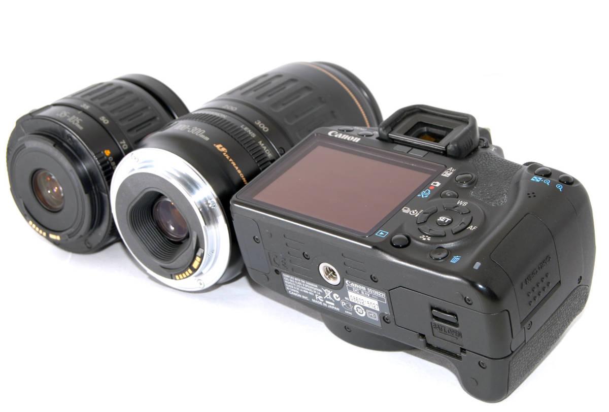 ●付属品多数有り● Canon キャノン EOS Kiss X3 純正&超望遠Wズームレンズセット_マウント、背面側もこの通りキレイです★