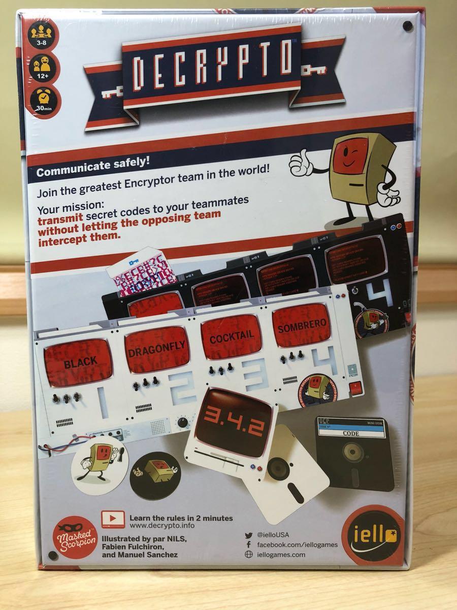 DECRYPTO (デクリプト) ボードゲーム 3~8人用 暗号通信ゲーム 【未開封新品】_画像2